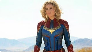 CAPTAIN MARVEL Official First Exclusive Look (2019) Brie Larson Marvel Movie