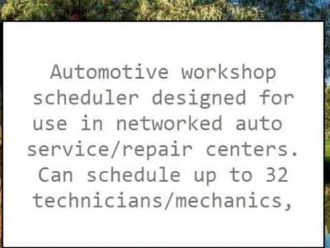 Automotive Workshop Scheduler Network Version