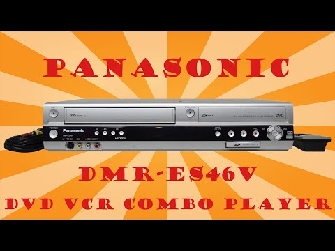 HOW TO RECORD VHS TO DVD WITH PANASONIC DVD VCR COMBO RECORDER DMR-ES46V WITH HDMI OUTPUT