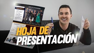 Uso EFECTIVO de la HP (Hoja de Presentación) | Luis Raul Ninapaytan