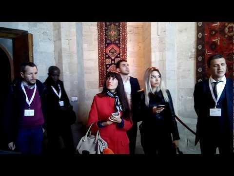 """""""Museums, Collections and Industrial Heritage"""" konfransının iştirakçıları Şirvanşahlar sarayında"""
