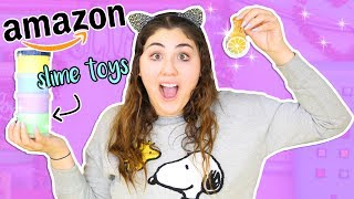 BUYING THE FIRST SLIMES AMAZON TELLS ME TO BUY | Slimeatory #275