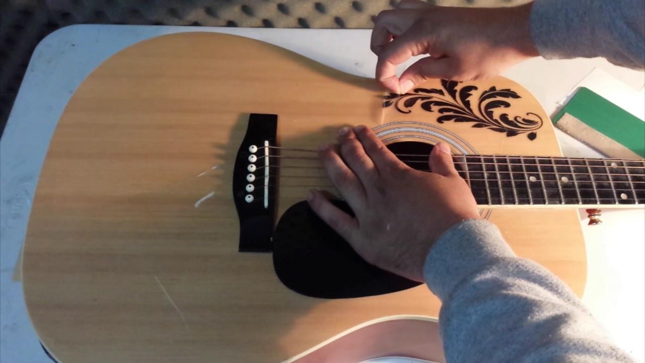Como personalizar tu guitarra con vinilos decorativos for Como personalizar tu cuarto