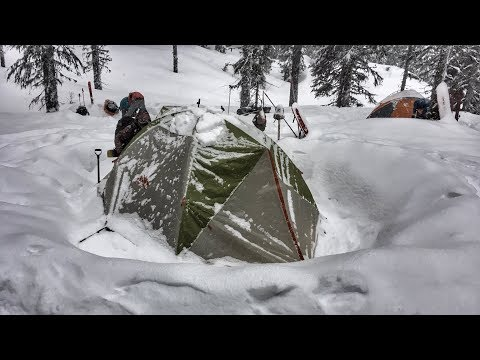 Winter Camping in a Snowstorm | St. Regis National Forest