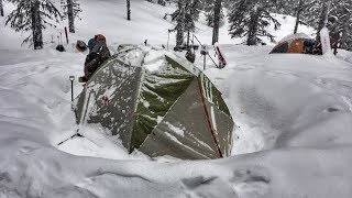 Winter Camping in a Snowstorm | Lolo National Forest