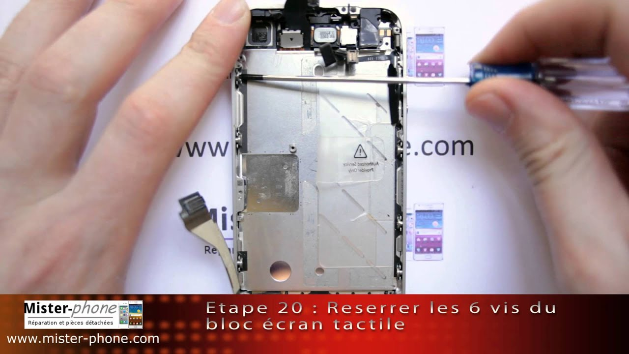 iphone 4 changer ecran lcd vitre tactile tutoriel hd 1080p youtube. Black Bedroom Furniture Sets. Home Design Ideas