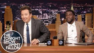 Download Kevin Hart FaceTimes Dwayne Johnson While Co-Hosting The Tonight Show