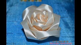 как сделать розы из атласных лент все