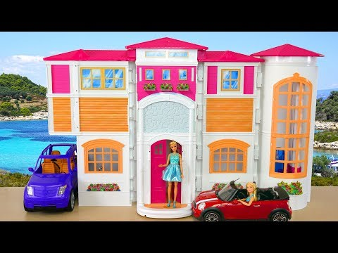 Barbie Ken Hello Dream House Afternoon Routine Casa de boneca Barbie Rumah boneka Barbie Sore rutin