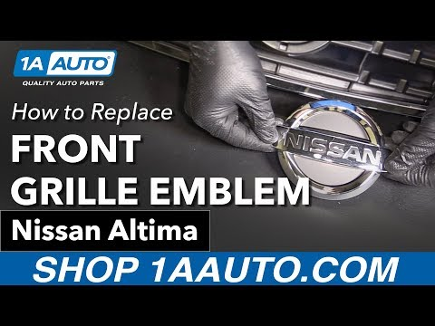 How to Replace Front Grille Emblem 02-06 Nissan Altima