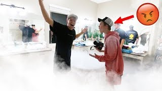 FILLED Tanner Fox's HOUSE with DRY ICE