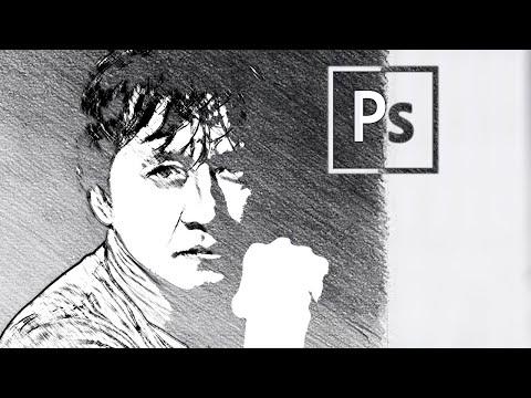 Карандашный рисунок в фотошопе | Pencil Drawing In Photoshop