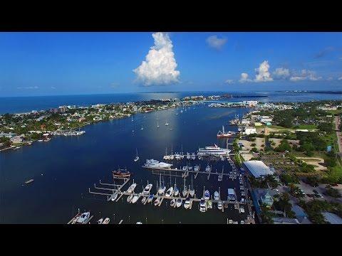 Aerial Video of Matanzas Harbor and Matanzas Pass Bridge - Fort Myers Beach, FL