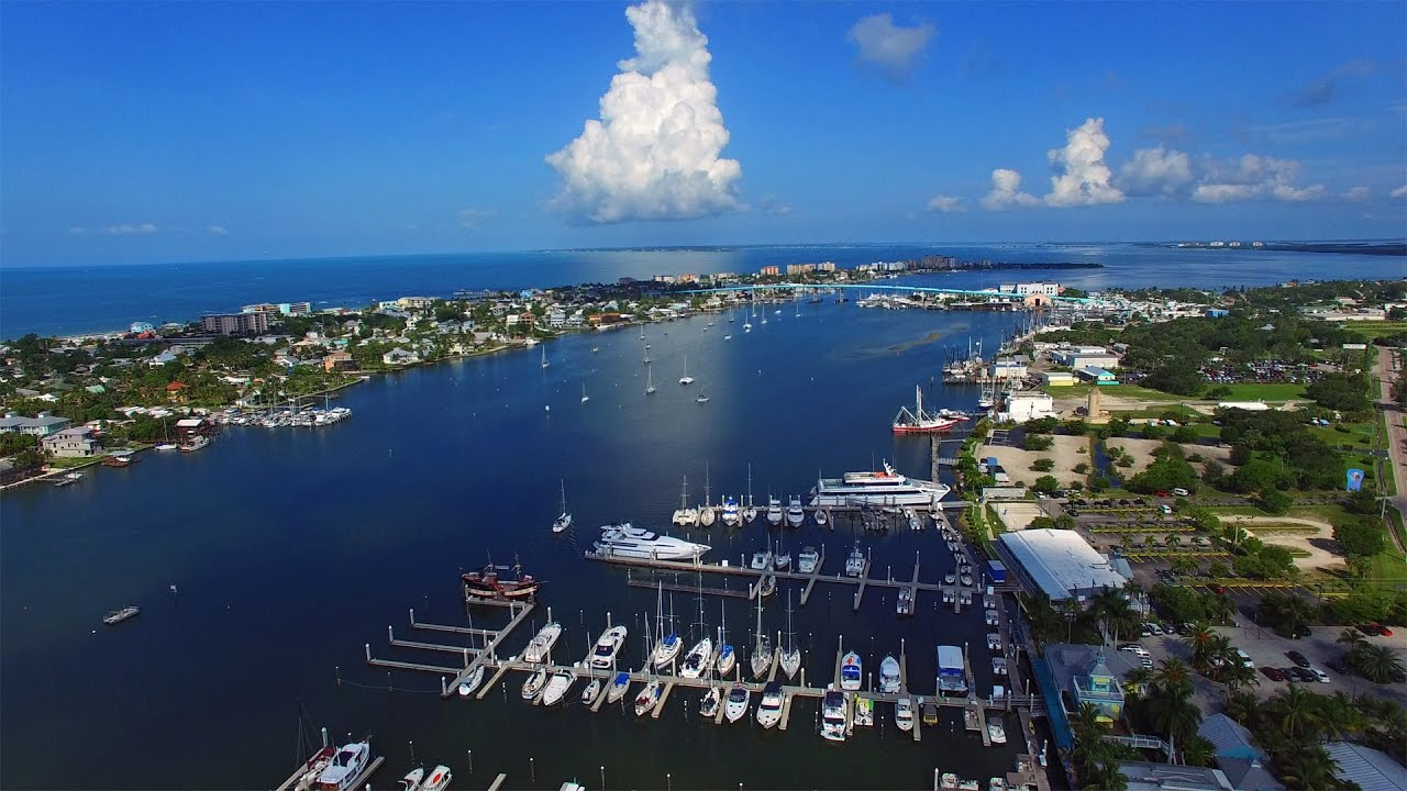 Aerial Video Of Matanzas Harbor And P Bridge Fort Myers Beach Fl