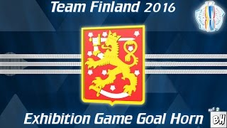 Team Finland 2016 World Cup Of Hockey Exhibition Game Goal Song