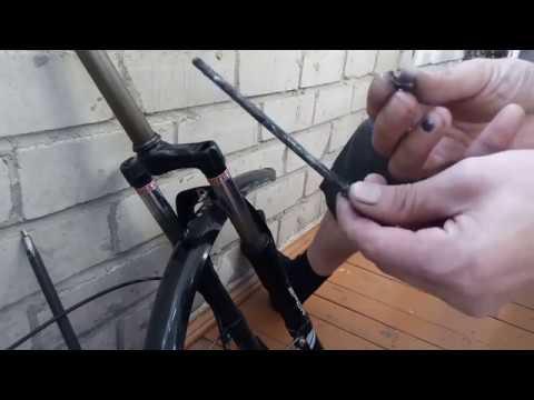 Ремонт вилки велосипеда убираем люфт в вилке Электровелосипед SHARMA NIA Huanan