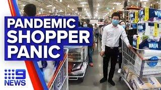 Coronavirus: Aussie shoppers 'panic buying' toilet paper | Nine News Australia