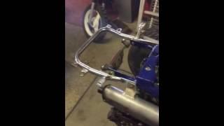 1er démarrage après reconstruction Yamaha Banshee