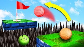 AVOID THE DEADLY SPIKE PIT! (Golf It)