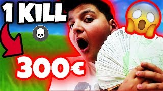 🤑PRO KILL Fortnite 300€! Challenge (5000€... ) Letztes Gamingvideo😓 | Can Wick