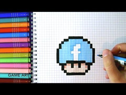 Comment Dessiner Un Pixel Champignon Facebook Ohh Youtube