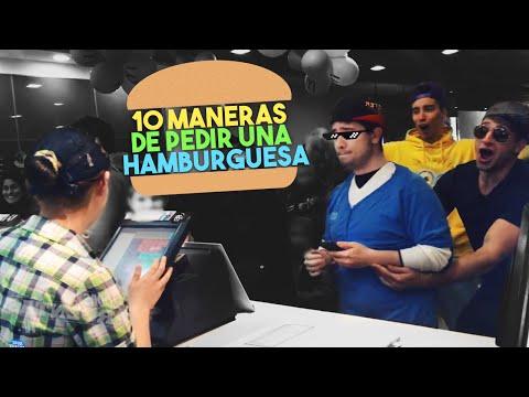 10 MANERAS DE PEDIR UNA HAMBURGUESA