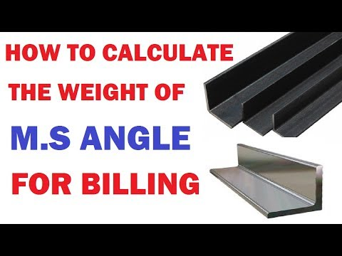 How To Calculate The Weight of M.S.Angle For Billing | By Learning Technology |