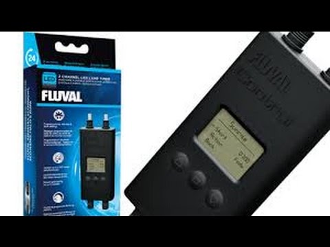 Fluval Dual Led Aquarium Lamp Timer Youtube