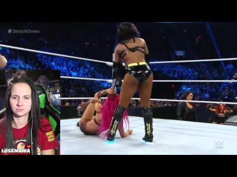 WWE Smackdown 2/11/16 Sasha Banks Vs Naomi