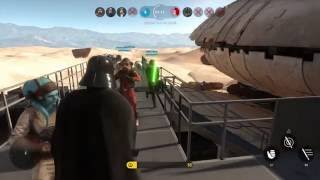 STAR WARS Battlefront Glitch - Darth Vader is a hero!!!