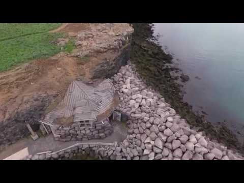 Iceland    City Keflavik – Reykjanesbaer drone fly over the city aerial video
