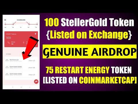 100 StellerGold Token Airdrop - 75 Restart Energy Token {Listed COINMARKETCAP} Claim fast 🔥