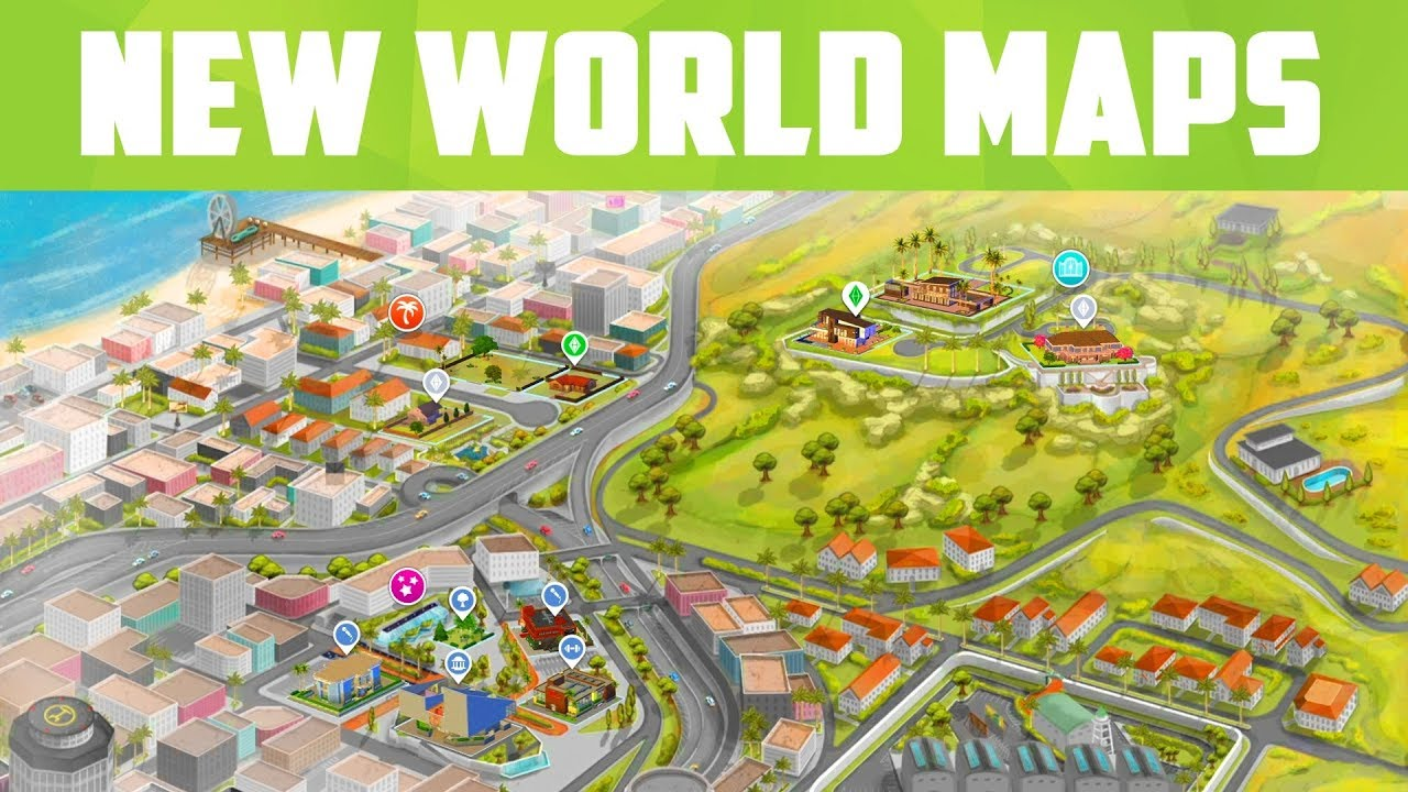 sims 4 world map download Sims 4 New World Maps Download Now The Sims 4 Info News
