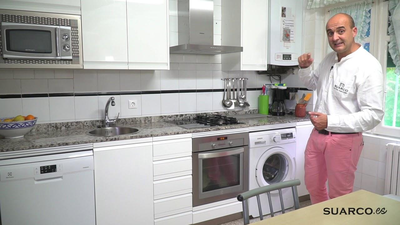 Cocina moderna blanca !!!aprovechando muebles antiguos!!! con ...