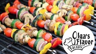 How To Grill | Salmon, Chicken, Veggie Kebabs | Olgasflavorfactory