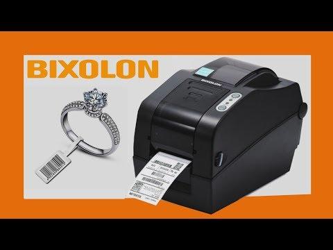 Bixolon SLP TX220 Impresora, Etiqueta Cola De Ratón Y Ribbon Para Joyería