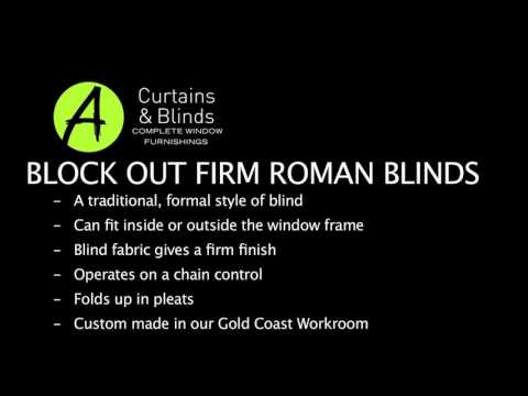 BLOCK OUT FIRM ROMAN BLINDS