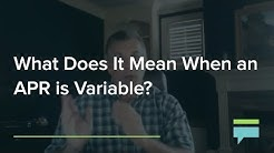 What does it mean when an APR is Variable? - Credit Card Insider