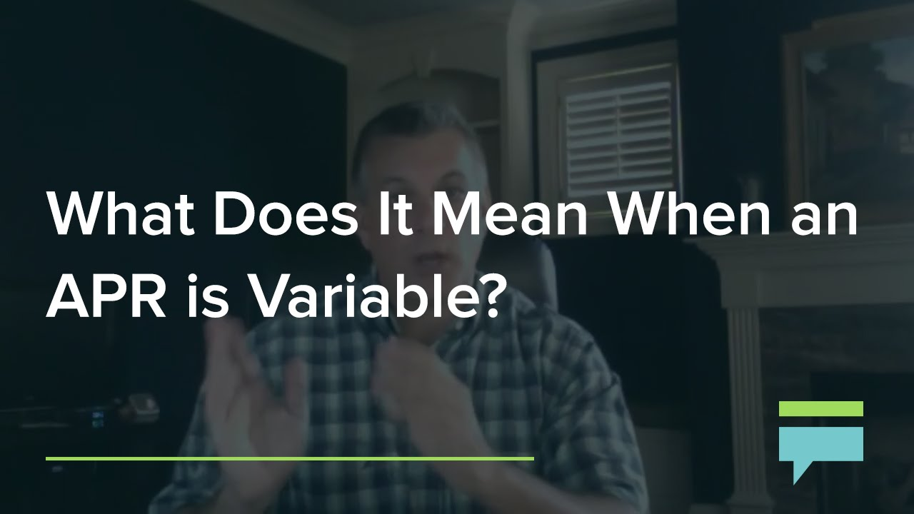 What does it mean when an APR is Variable? - Credit Card Insider - YouTube