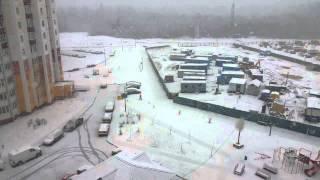 Снег 5.04.2015 Новополоцк.(, 2015-04-06T06:13:42.000Z)