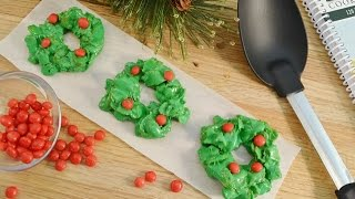 Holiday Wreaths Cookie Recipe - No Bake Christmas Cookie | Radacutlery.com
