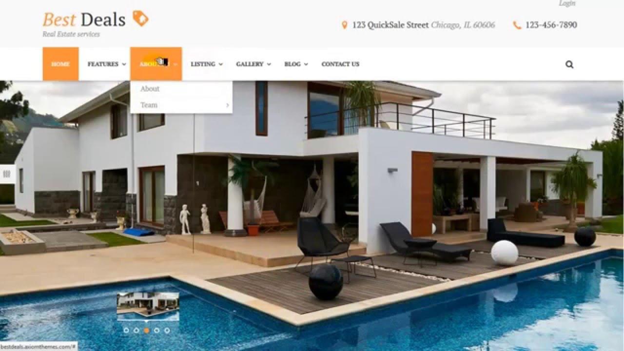 Mejores temas wordpress para inmobiliarias bienes raíces - YouTube