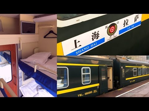 Inside Chinese Train Lhasa - Shanghai in Soft Sleeper Cabin