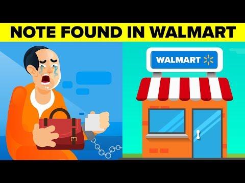 Note Asking For Help Found In Walmart Merchandise