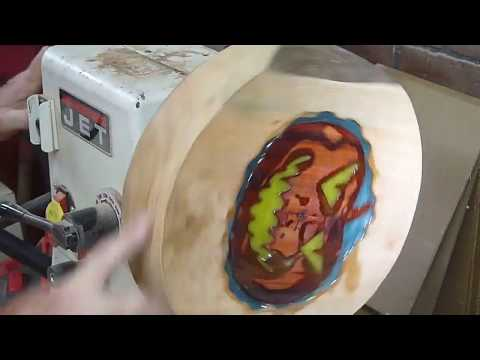 Woodturning a Jack O'Lantern Bowl and a Poem too