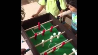 Boys Make Foosball Table