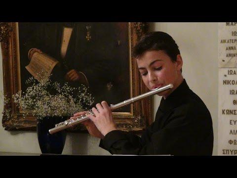 Ντάνιελ Δαμασκηνός Ρεσιτάλ Φλάουτου Franz Xavier Mozart Ρόντο σε μι ελάσσονα