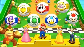 Mario Party 9 - All Characters - Garden Battle #5
