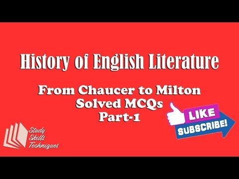 History of English Literature Chaucer to Milton – Solved MCQs Part 1