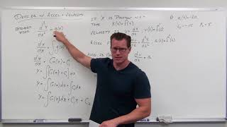 Differential Equations With Velocity And Acceleration  Differential Equations 7